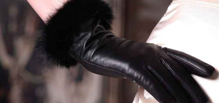 Fur women gloves