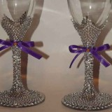 glasses with rhinestones